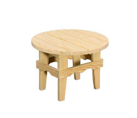 Amish Outdoor Pine Round Coffee Table