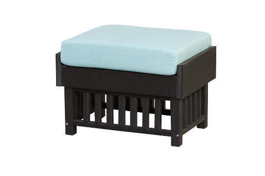 Finch Poly Mission Ottoman