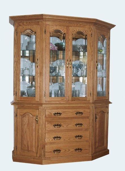 Amish Angled Canted Dining Hutch