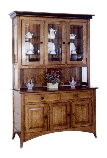 Amish Shaker Hill Three Door Hutch