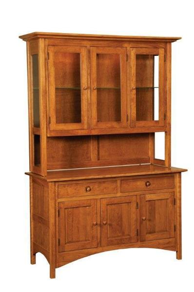 Amish Shaker Hill Hutch with Straight Legs