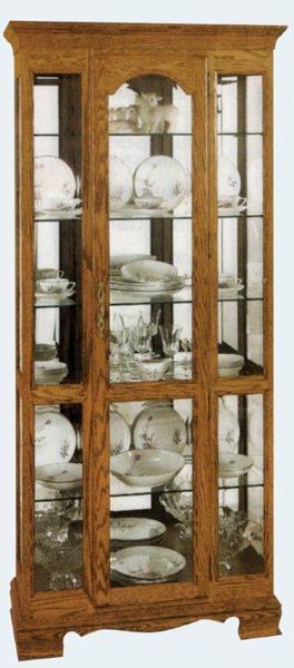 Amish Curio Cabinet with Joni Base