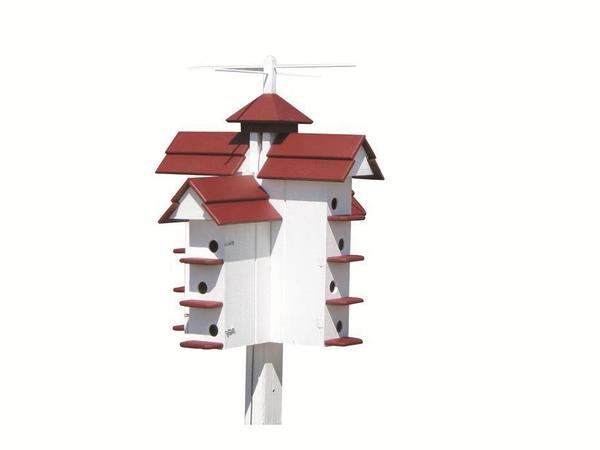 Amish Tall Martin Bird House with Fourteen Compartments