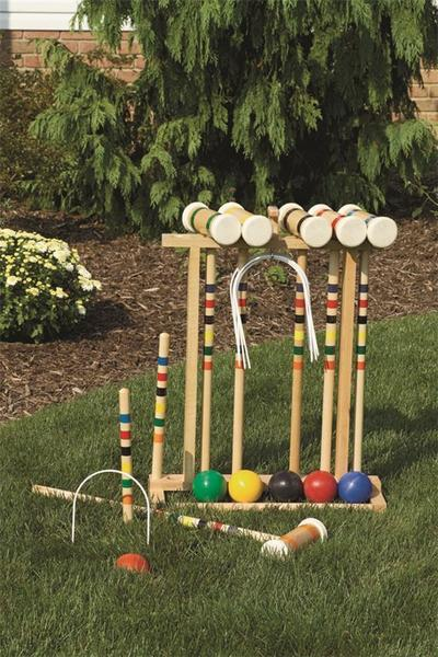 Wooden Amish Made Croquet Set