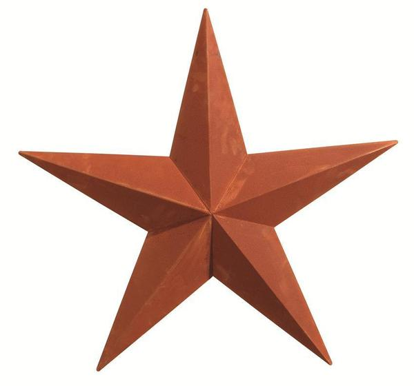 "Amish-Made 53"" Rusty Barn Star"