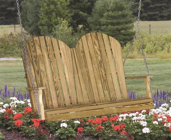 LuxCraft Pine Adirondack Porch Swing