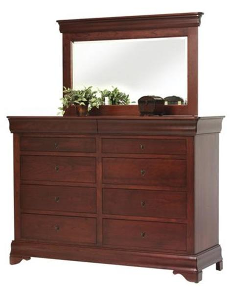 Amish Louis Philippe High Dresser