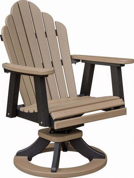 Amish Poly wood swiveling rocking dining chair for outdoor patio