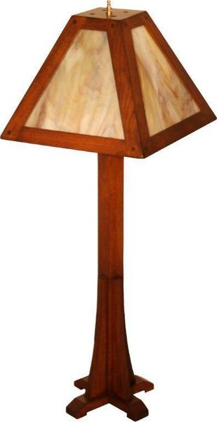 Amish Mission Table Stained Glass Lamp