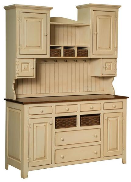 Sadies Pine Wood Painted Hutch