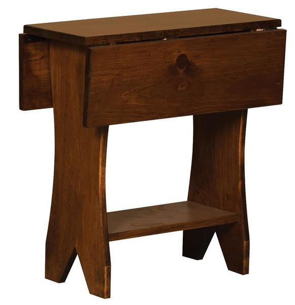 Amish Pine Drop Leaf End Table
