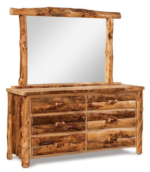 Amish Log Furniture Aspen 6 Drawer Dresser