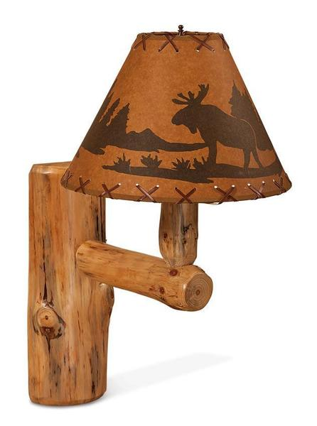 Amish Rustic Wood Wall Light