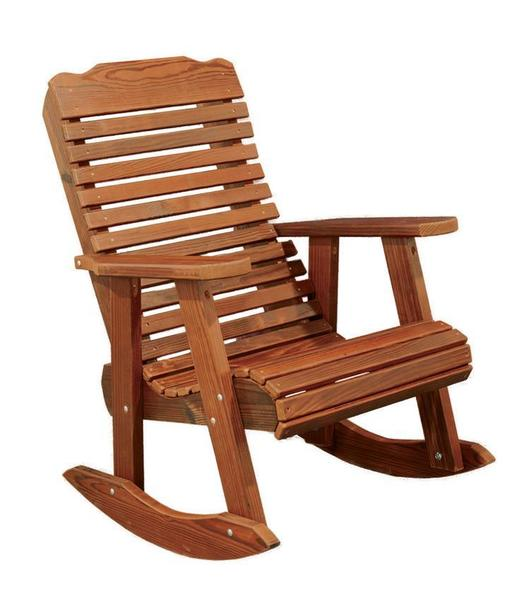 Ask Us A Question Amish Cedar Wood Contoured Rocking Chair