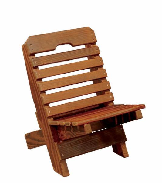 Amish Cedar Wood Kid's Fisherman Folding Chair
