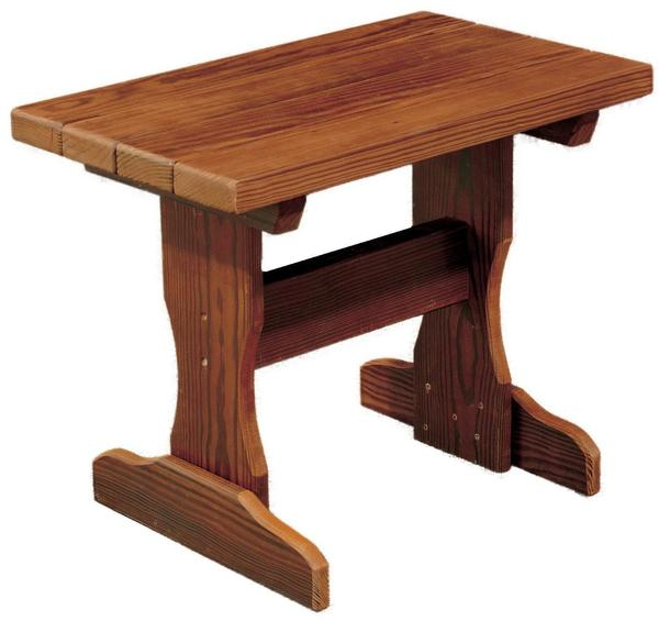Amish Cedar Wood Small Side Table
