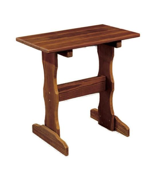 Amish Cedar Wood Tall End Table