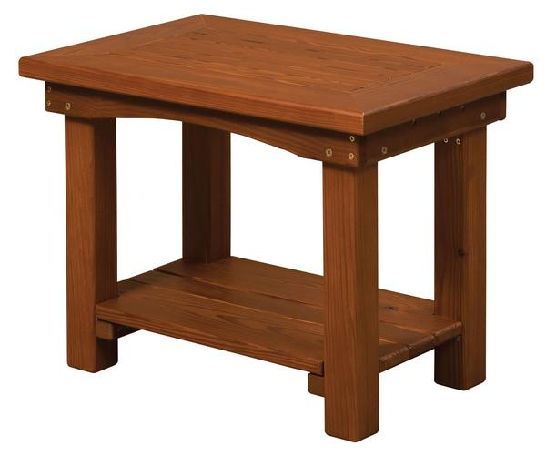 Amish Cedar Wood Small End Table
