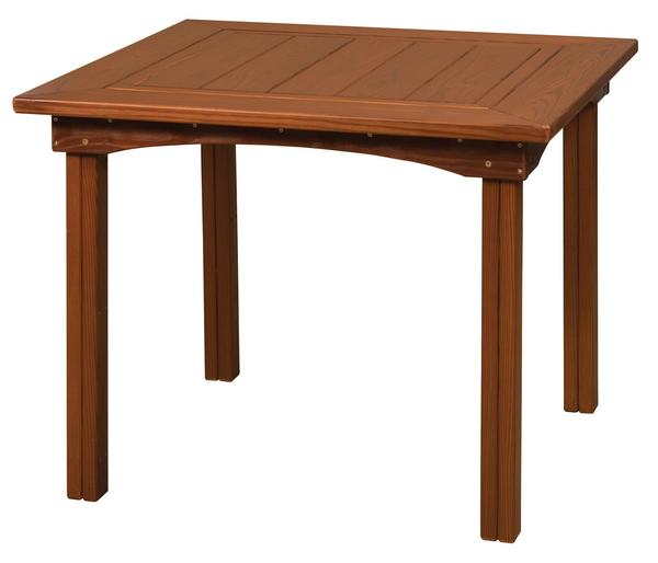 Amish Cedar Wood Outdoor Square Table