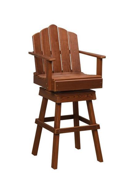 Amish Cedar Wood Captain's Swivel Chair
