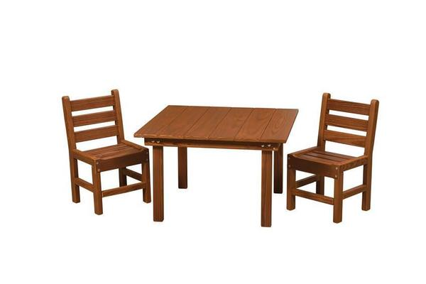 Amish Cedar Wood Kids' Table Set