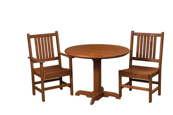 Amish Cedar Wood 3 Piece Out Patio Set