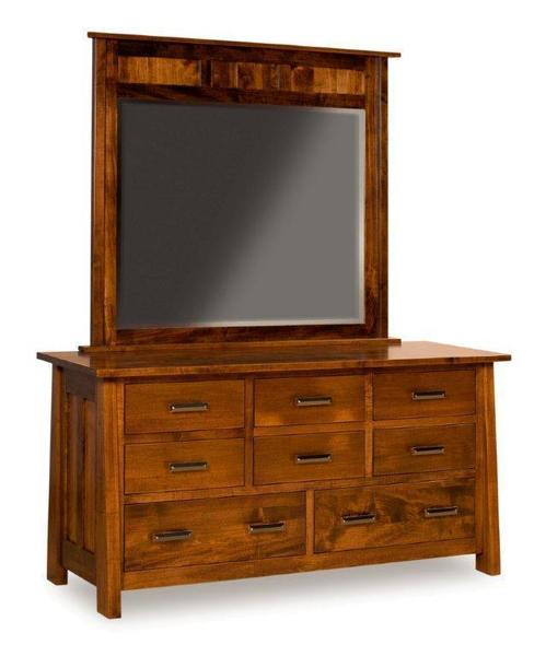 Amish Freemont Mission Dresser with Eight Drawers and Optional Mirror