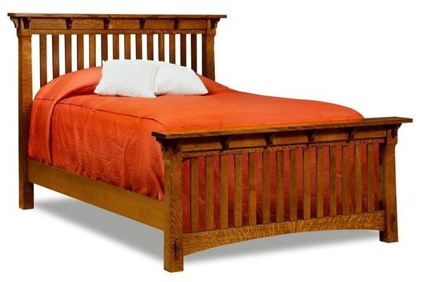 Amish Milwaukee Mission Slat Bed