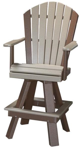Amish Seaside 20 Inch Wide Classic Poly Composite Swivel Bar Chair