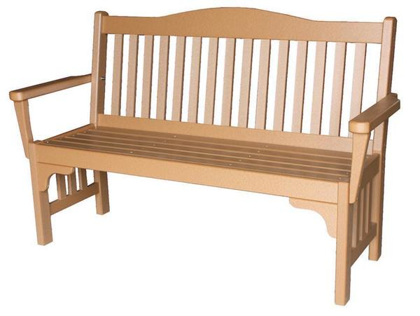 Amish Seaside Mission 52 Inch Poly Composite Park Bench