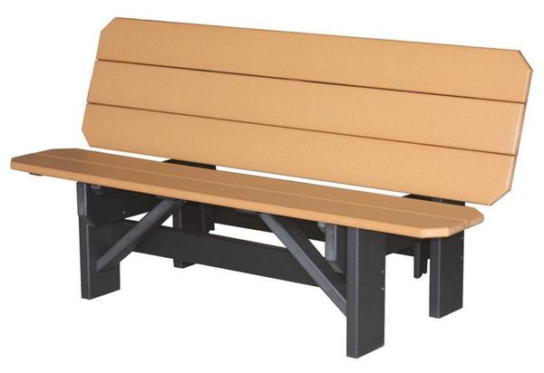 Amish 6' Single Poly Park Bench