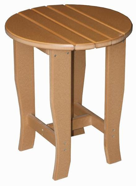 Amish Round Poly End Table