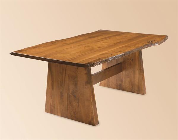 Bayport Dining Table with Live Edge from DutchCrafters Amish Furniture