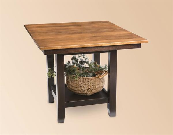 London Square Kitchen Table with Shelf