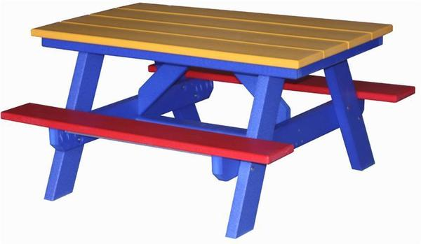 Inch Childs Poly Picnic Table From DutchCrafters Amish Furniture - Ready to assemble picnic table