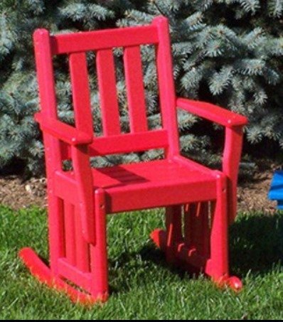 Amish Mission Child's Poly Rocking Chair