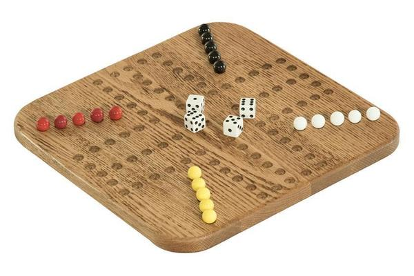 Amish Oak Wood Aggravation Game 3-4 Players