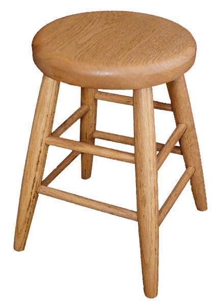 Amish Oak Wood Child's Bar Stool