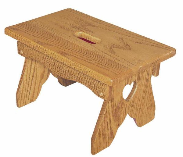 Amish Hardwood Slot Bench with Heart