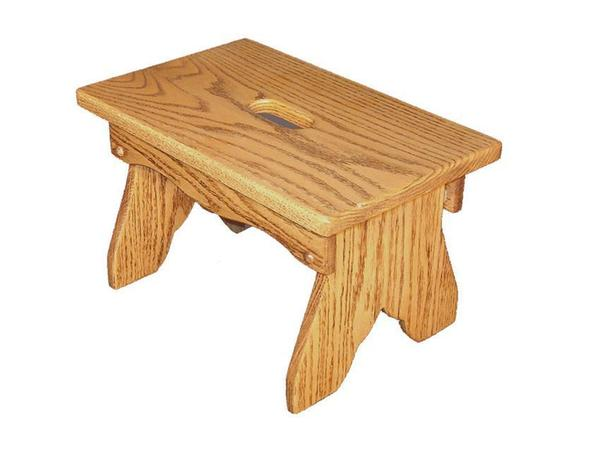 Amish Hardwood Slot Bench Plain