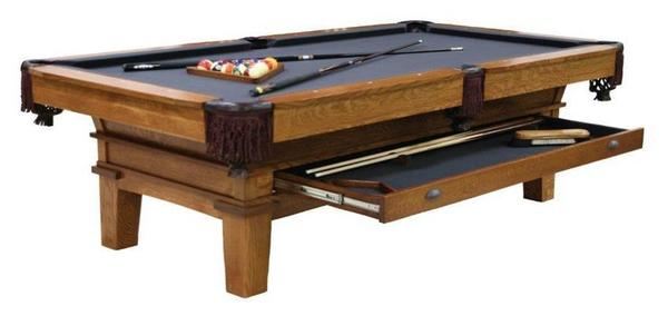 Amish Handcrafted Monroe Billiard Pool Table