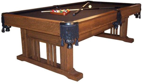 Amish Handcrafted Signature Mission Pool Table