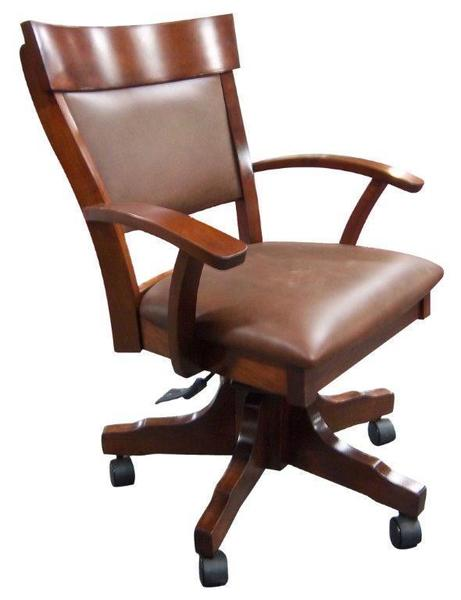 Amish Handcrafted Chancellor Arm Chair with Gas Lift