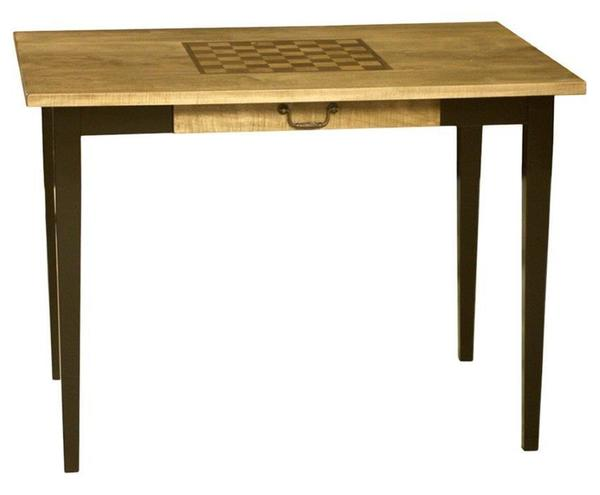 Amish Handcrafted Ashton Chess or Checkers Game Table