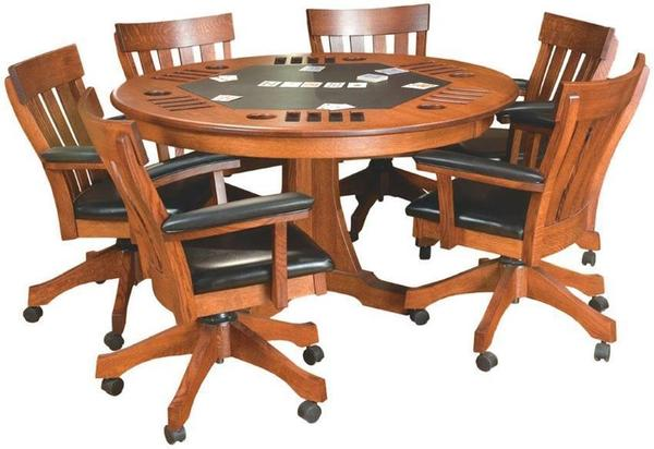 Amish Solid Wood Signature Mission Game Table