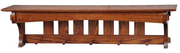 """Amish Hardwood 48"""" Aspen Mission Shelf"""