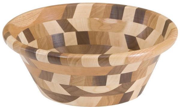 Amish Decorative Mixed Wood Bowl Kings Style