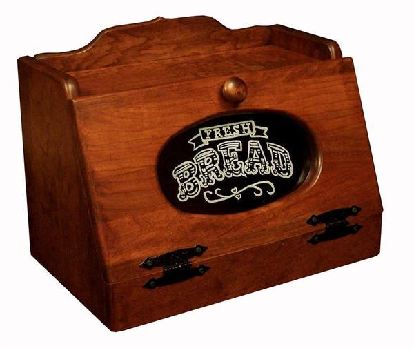 Amish Bread Box with Plexiglass Front