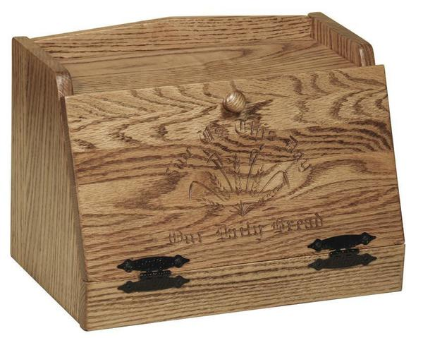 American Made Bread Box with Daily Bread Quote