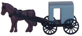 Amish Horse and Buggy Toy